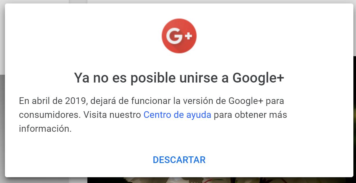 Aviso Google+